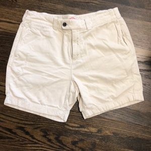 Brooks Brothers Red Fleece cream colored Shorts.